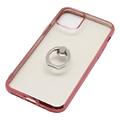 iPhone 11 Pro用 5.8インチ ジャケット リング付き メタルフレーム